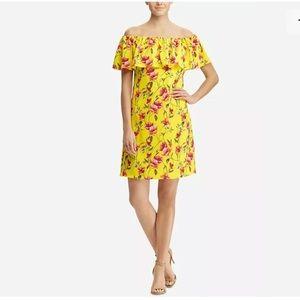 LaurenRalphLauren Off/Shoulder Floral MiniDress10
